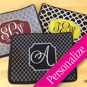 "Pattern Monogram 11"" Zippered Kindle - Webook - Netbook - iPad Case"