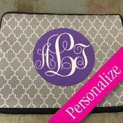 "Pattern Monogram 14"" Zippered Laptop Case"
