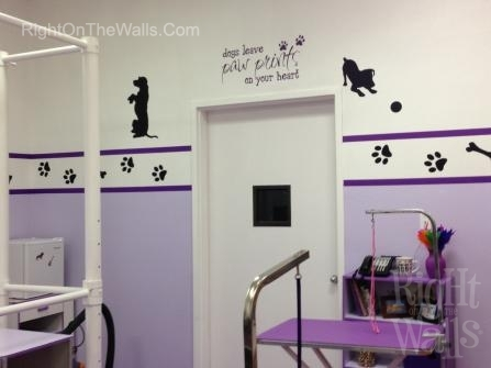 Dog Grooming Wall Decals & Decorating Ideas