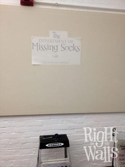 DIY Department Of Missing Socks Wall Decal Project - Instructions on how to put up a wall sticker