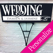 Custom Bold Wedding Directional Sign