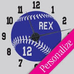 Baseball Vinyl Wall Decal Sports Clock