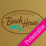 Custom Beach House Sign