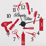 Beauty Time Vinyl Wall Clock