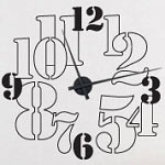 Numbers Vinyl Wall Clock