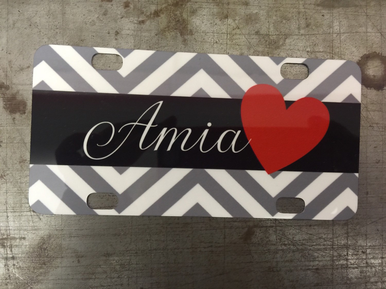 Custom Name Bike License Plate Personalized With Your Text