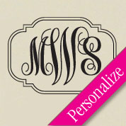 Fancy Monogram Wall Decal, Family Border Monogram