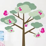 Butterfly Tree Wall Decal Vinyl Wall Art
