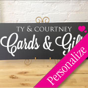 Cards & Gifts Table Personalized Sign