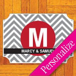 Chevron Monogram Floor Decal