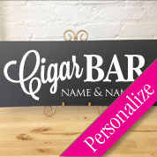 Cigar Bar Wedding Table Personalized Sign