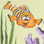 Clown Fish Mural Print