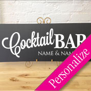 Cocktail Bar Wedding Table Personalized Sign