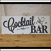 Cocktail Bar Table Sign