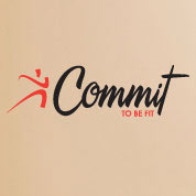 Commit To Be Fit Fitness Wall Decal, Gym Vinyl Wall Quote