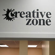 Creative Zone Wall Decal, Vinyl Wall Art, Wall Decor