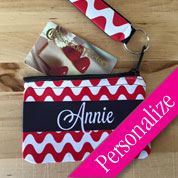 Wristlet Coin Purse with Personalized Band