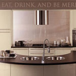 Eat Drink & Be Merry Kitchen Wall Decal