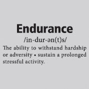 Endurance Definition Vinyl Wall Art, Wall Decal