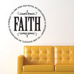 Faith Circle Family Wall Decal, Family Vinyl Wall Art