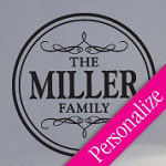 Family Circle Custom Wall Decal, Personalized Family Vinyl Wall Art