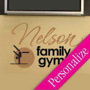 Personalized Family Fitness Decal, Gym Vinyl Wall Art