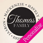 Family Names Circle Custom Wall Decal, Personalized Vinyl Wall Art