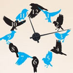 Bird Flock Vinyl Wall Clock