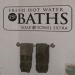 Bath Fresh Hot Water Bathroom Vinyl Wall Decal
