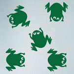 Frog Wall Decal, Animal Vinyl Wall Art
