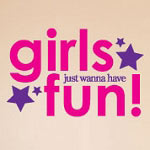 Girls Have More Fun Wall Decal, Vinyl Wall Art