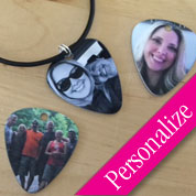 Photo Guitar Pick Necklace
