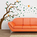 Gust of Wind Tree Wall Decal