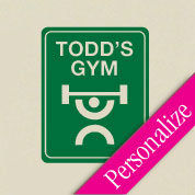 Gym Street Sign Wall Decal
