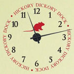 Hickory Dickory Vinyl Wall Decal Clock