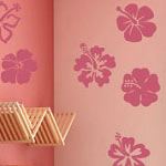 Small Hibiscus Flower Wall Decal Set