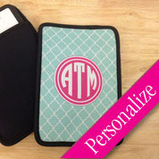 Pattern Monogram Kindle Fire or iPad Sleeve