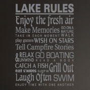 Lake Rules Sign Wall Decal, Family Lake House Custom Vinyl Wall Art