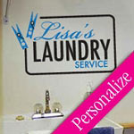 Laundry Pins Sign Custom Laundry Wall Decal