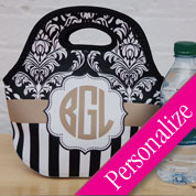 Multi-Pattern Monogram Lunch Bag Tote