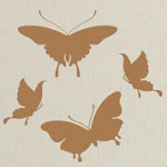 Monarch Butterfly Vinyl Wall Art, Animal Insect Wall Decal
