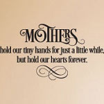 Mothers Love Forever Wall Quote, Family Vinyl Wall Art