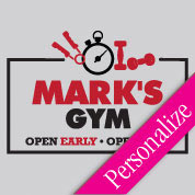 Open Early Fitness Wall Decal, Gym Vinyl Wall Art