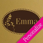 Floral Oval Personalized Kids Vinyl Wall Decal