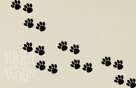 pawprint wall decal
