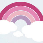 Pink Rainbow Vinyl Wall Art Decal