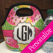 Preppy Monogram Lunch Bag