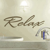 relax bathroom vinyl wall decal