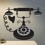 Phone Wall Decal, Vinyl Wall Art
