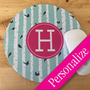 Personalized Mouse Pad, Designer Monogram Round Mouse Pad